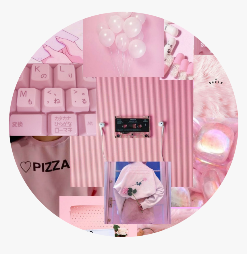 Tumblr Pink Wallpaper Walldecoration Wallpapers Wall Clock Hd Png Download Transparent Image Pngitem