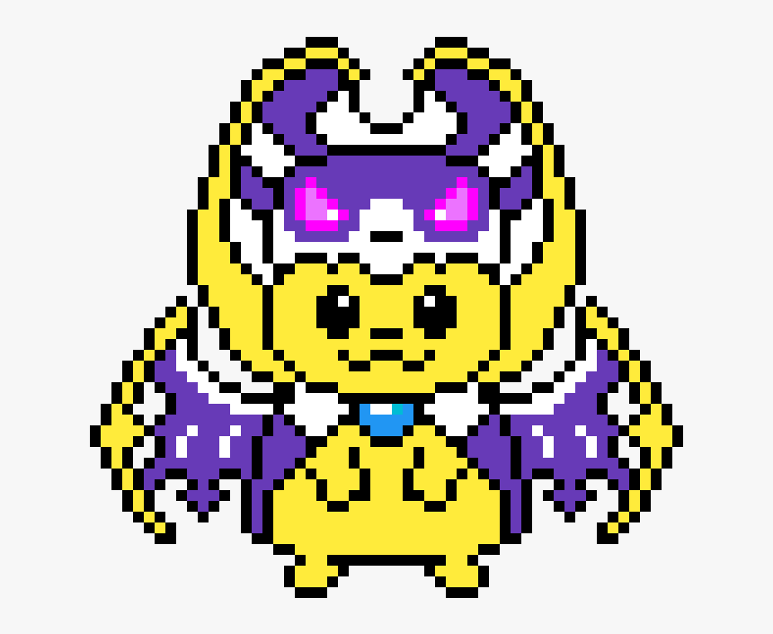 Pikachu Lunala Pixel Art Hd Png Download Transparent Png