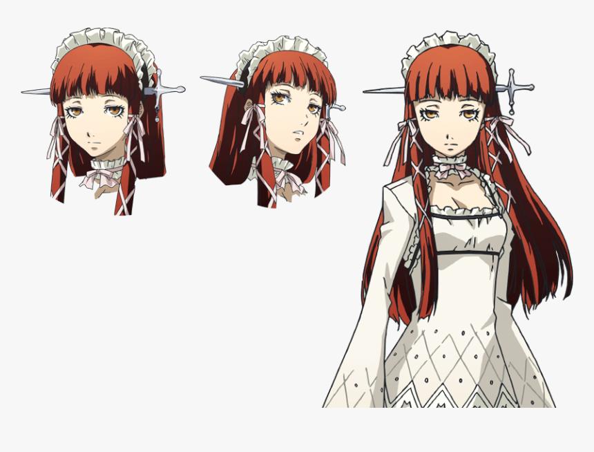 P3 Persona 3 Red Hair Girl Hd Png Download Transparent Png Image Pngitem