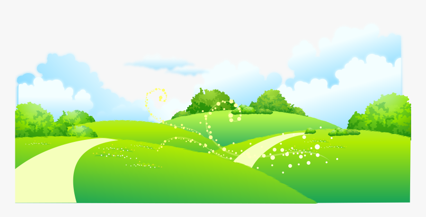 On Meadow Painted Of Trees Illustration Cartoon Clipart Landscape Clipart Hd Hd Png Download Transparent Png Image Pngitem Blend ma unitypackage fbx jpg obj oth. on meadow painted of trees illustration