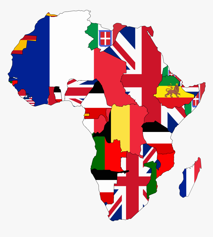 Map Of Africa Flags.Flag Map Of Colonial Africa Africa Colonization Map Flags