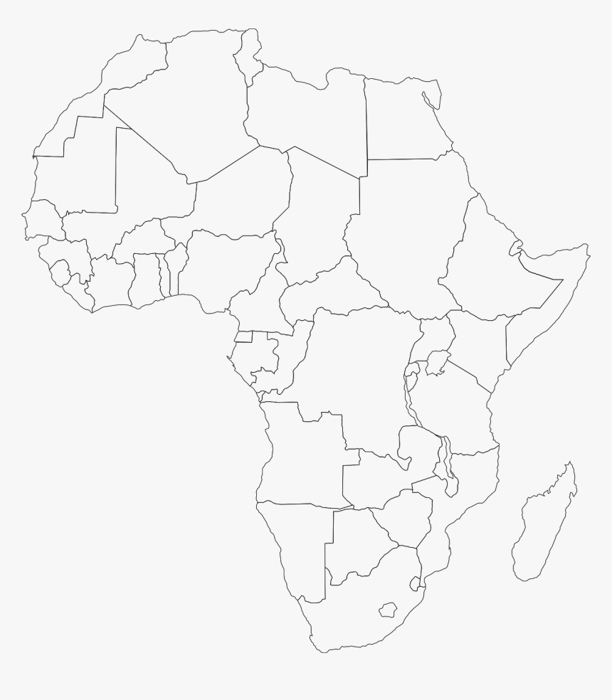 It is a graphic of Printable Africa Map with atlas