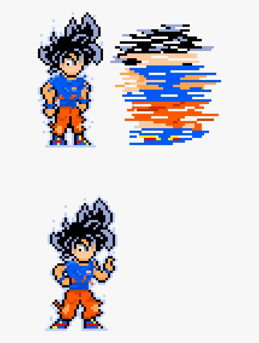 Pixel Art Ultra Instinct Hd Png Download Transparent Png