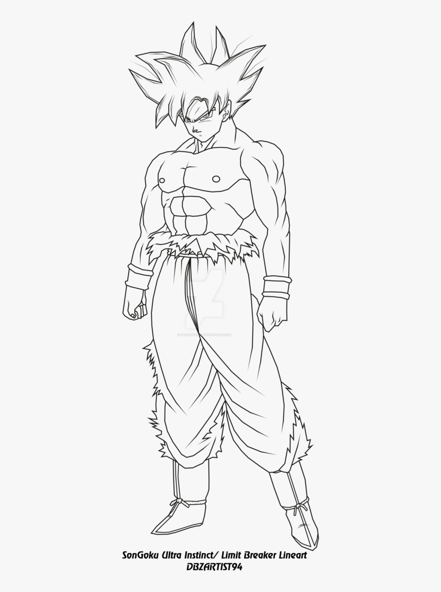 Goku Ultra Instinct Coloring Pages, HD Png Download ...