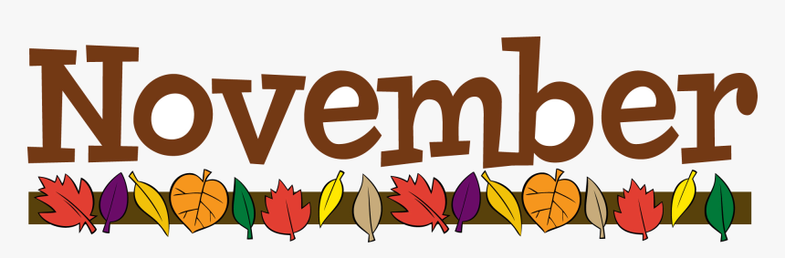 November Clip Art Clipart Photo Transparent Png - November Clipart, Png  Download , Transparent Png Image - PNGitem