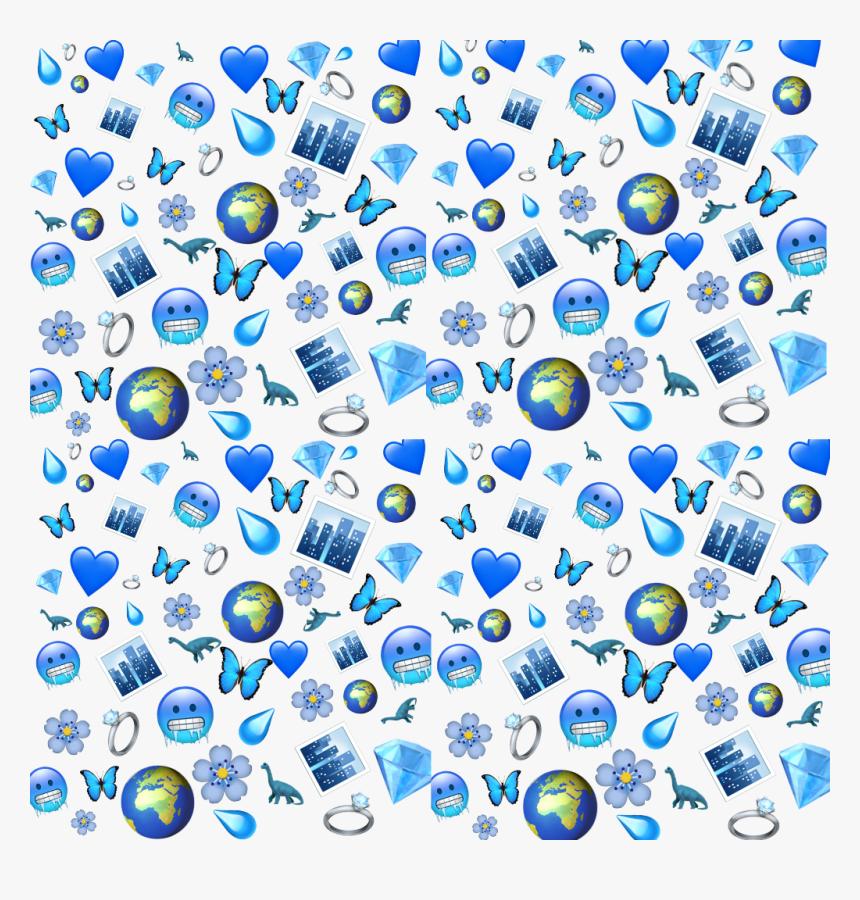 Aesthetic Blue Butterfly Emoji Wallpaper - Largest ...