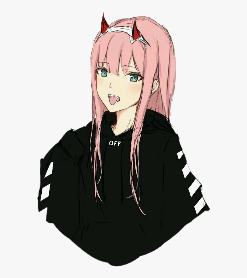 Transparent Hot Anime Girl Png - Zero Two Off White, Png Download