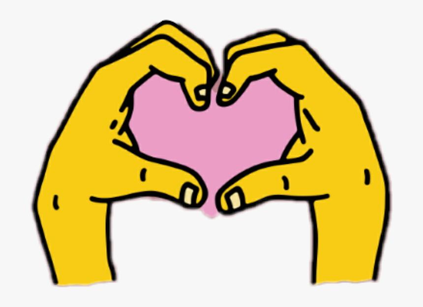 Instagram Sticker Heart Png Download Instagram Heart Hands Sticker Transparent Png Transparent Png Image Pngitem