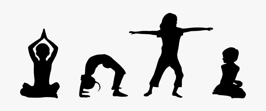 Yoga Transparent Kid Kids Yoga Silhouette Hd Png Download Transparent Png Image Pngitem