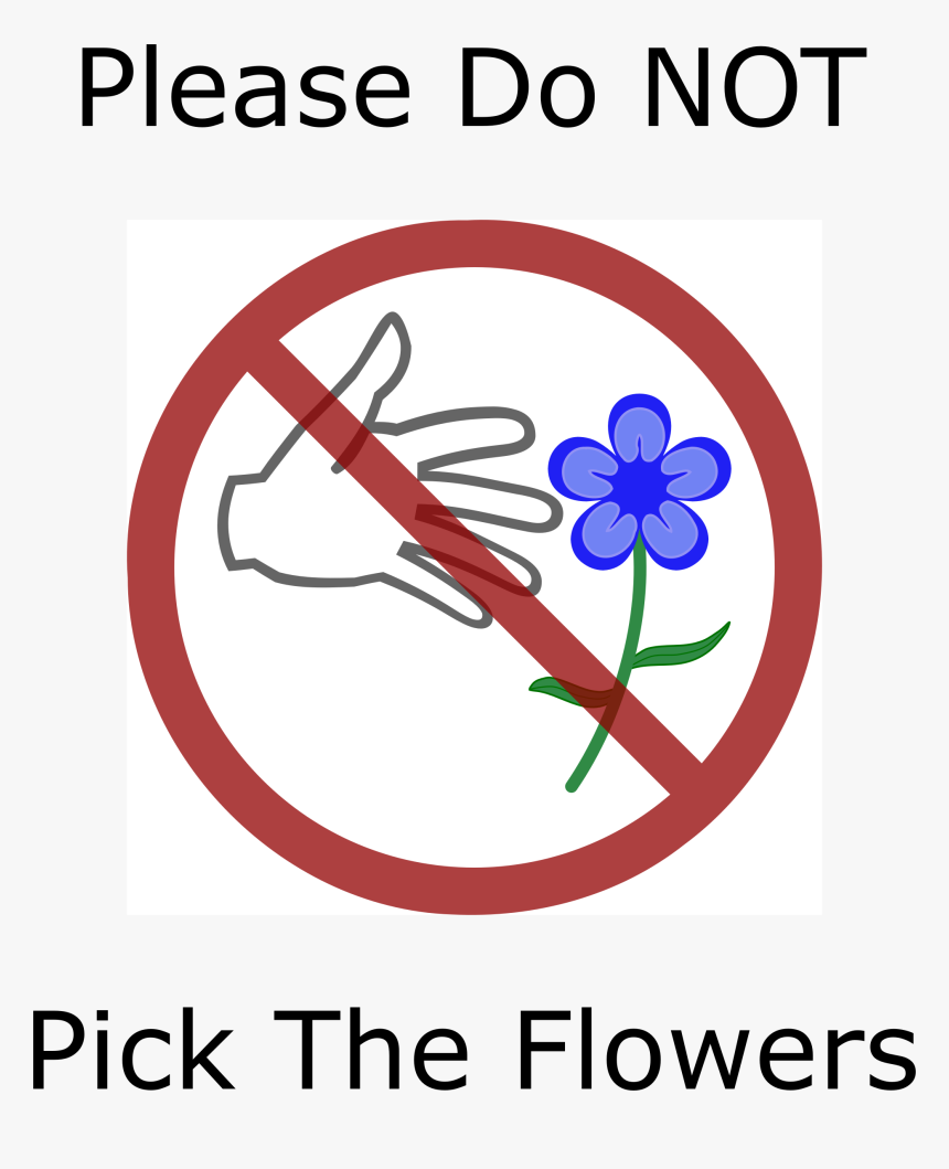 Clip Arts Signs Don T Pick Flowers