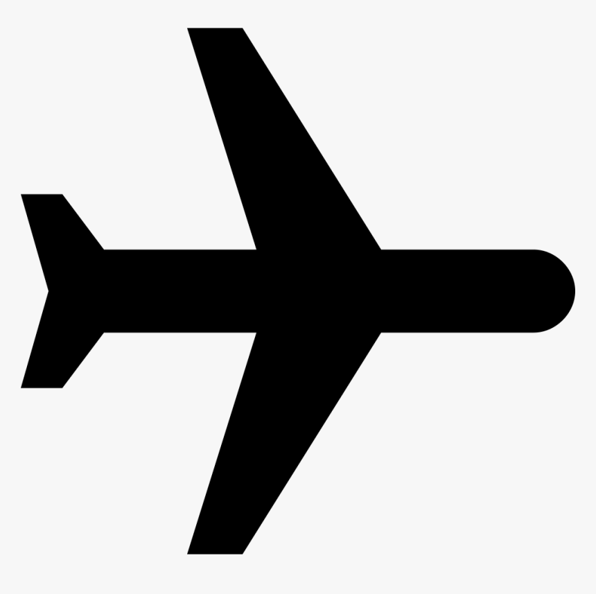 Plane Icon Svg Black Airplane Symbol Copy Paste Hd Png Download