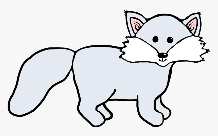 Arctic Fox Clipart Simple Cartoon - Girl Arctic Fox Cartoon - Png Download  (#1316975) - PinClipart