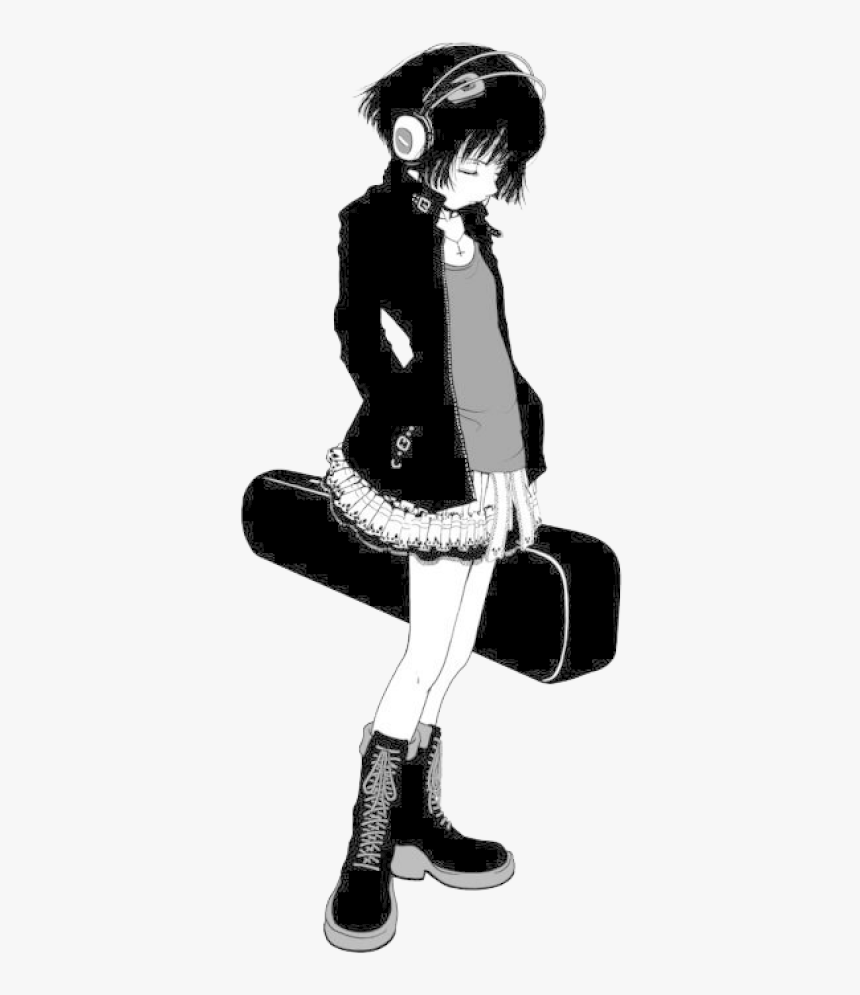 Emo Anime Girl, HD Png Download , Transparent Png Image - PNGitem