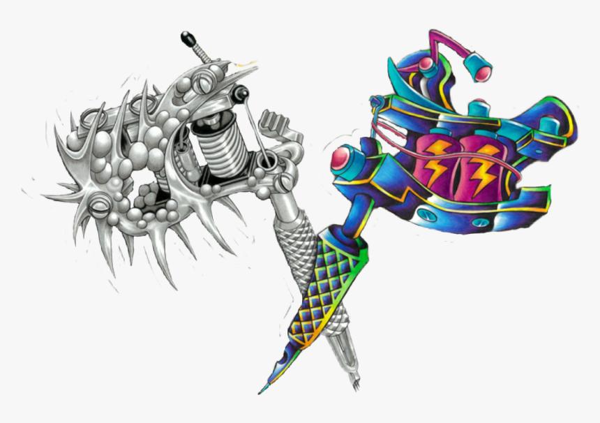 Vektor-Illustration Von Monochromen Tattoo-Maschine . Getrennt Auf Weißem  Hintergrund Lizenzfrei Nutzbare Vektorgrafiken, Clip Arts, Illustrationen.  Image 98557667.