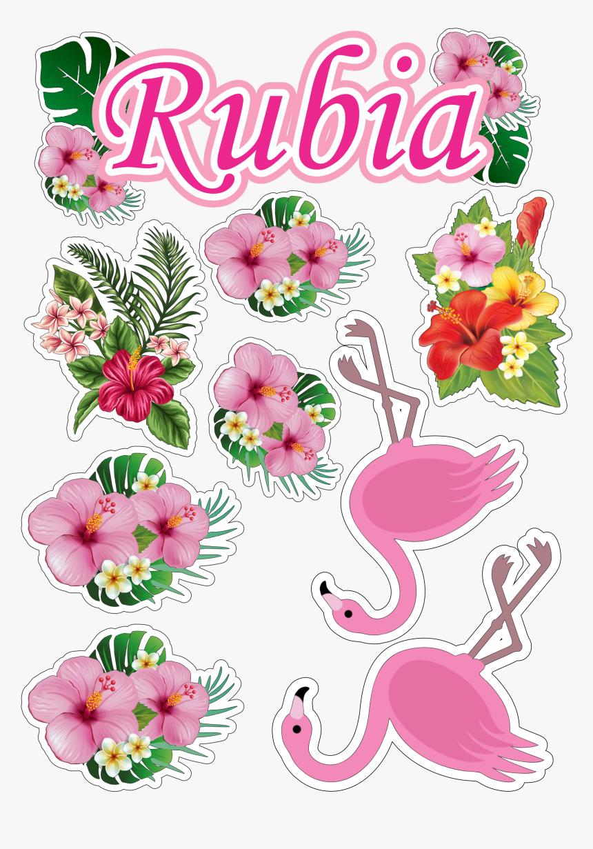 Topo De Bolo Topper Do Flamingo Para Imprimir Hd Png