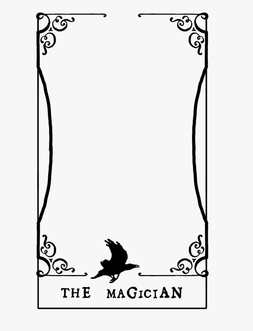 Tarot Blank Card Template - Tarot Card Template Png, Transparent Pertaining To Blank Magic Card Template