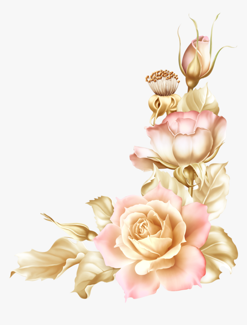 Baroque Vector Vintage Rose Wallpaper Tulip Flower Border Design