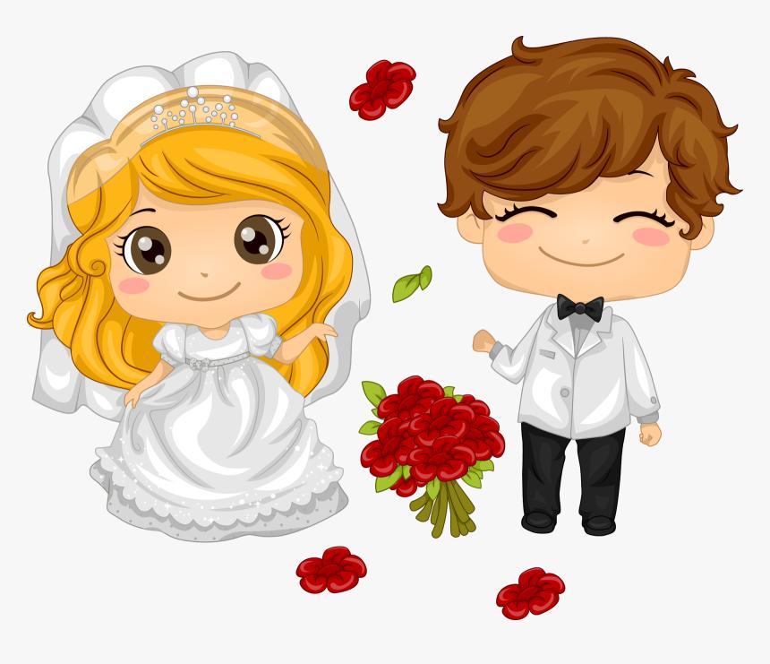 Cute Wedding Couple Cartoon Png Transparent Png Transparent Png Image Pngitem