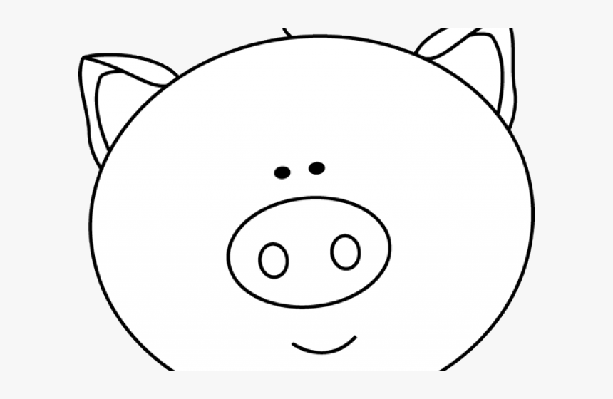 Pig Face Clipart Cute Pig Face Clipart Black And White Hd Png Download Transparent Png Image Pngitem