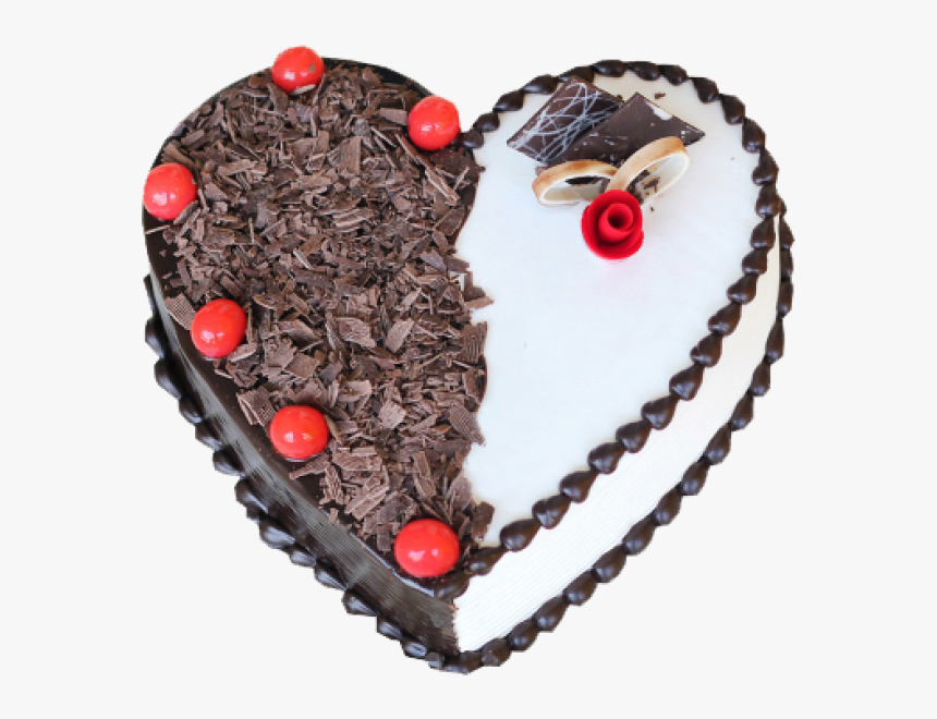 heart shaped black forest cake png