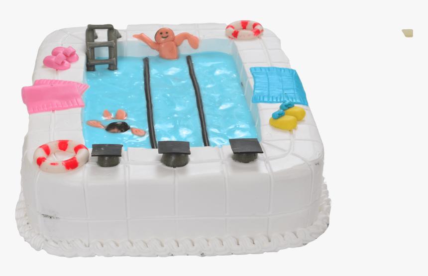 Peachy Swimming Pool Cake Cake Decorating Hd Png Download Personalised Birthday Cards Vishlily Jamesorg