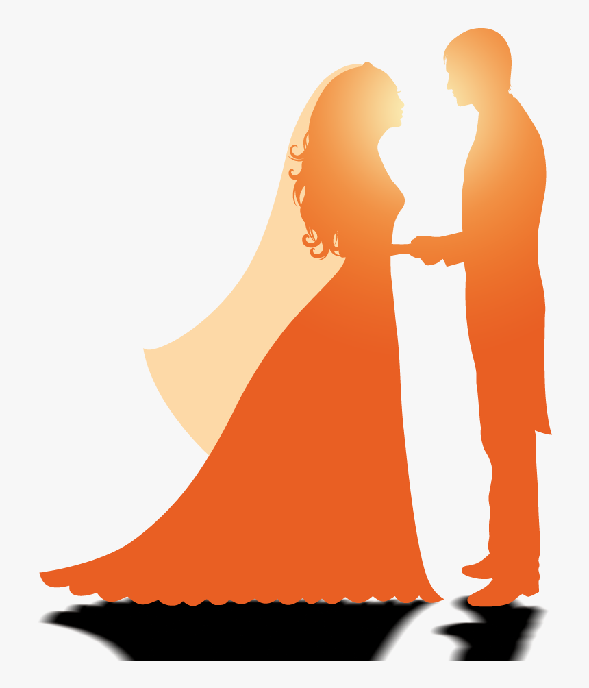 Wedding Marriage Silhouette Wedding Couple Logo Design Hd Png Download Transparent Png Image Pngitem