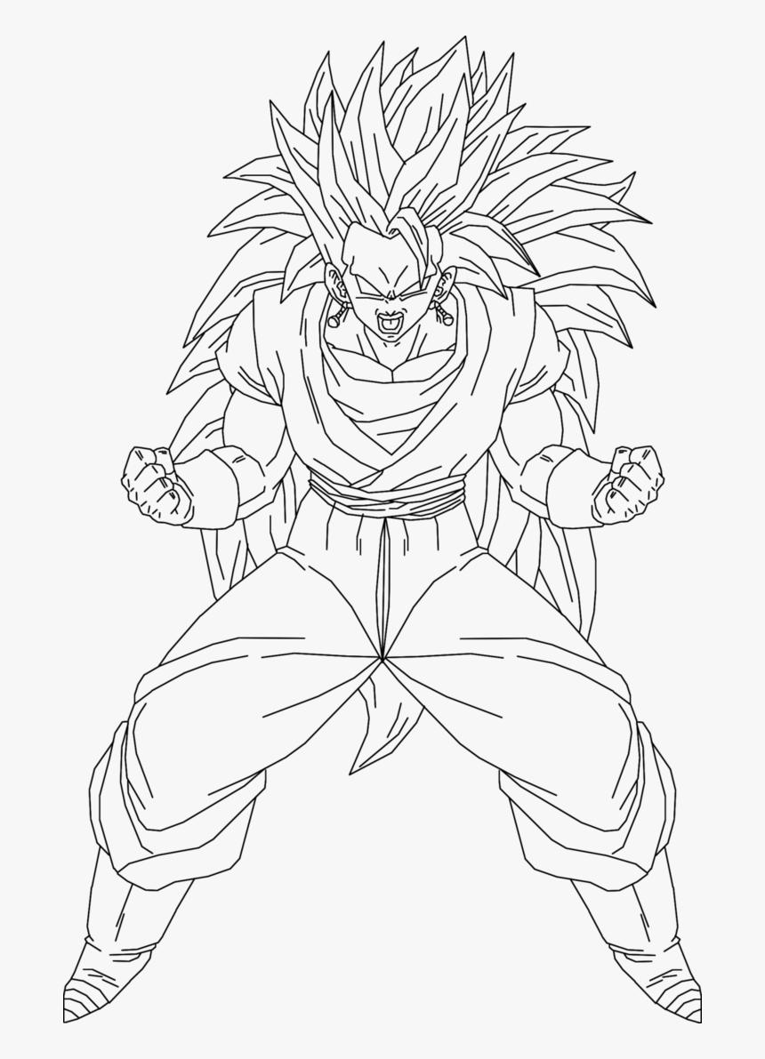 - Super Saiyan Dragon Ball Z Drawings, HD Png Download , Transparent