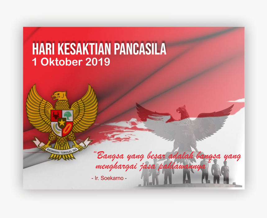 Transparent Bendera Merah Putih Png Background Hari Kesaktian Pancasila Png Download Transparent Png Image Pngitem