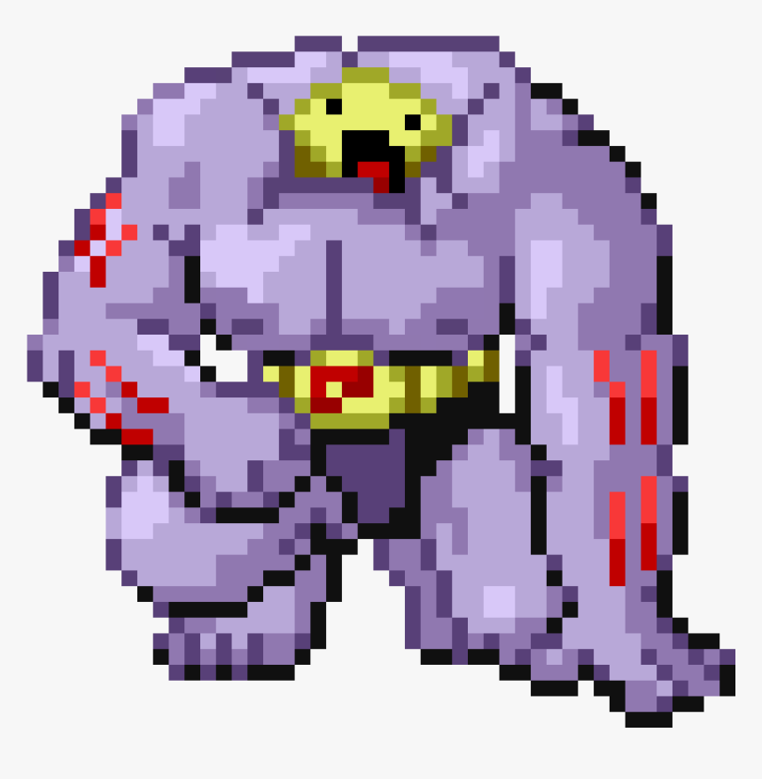 Machoke Pokemon Pixel Art Hd Png Download Transparent Png
