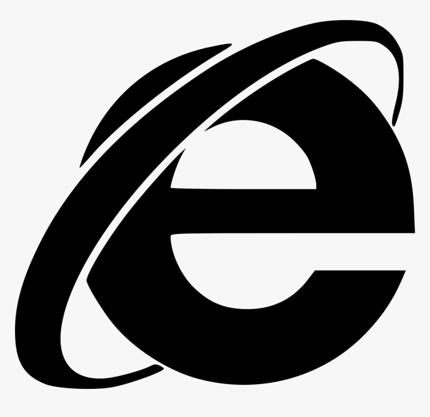 Transparent Internet Explorer Logo Png Black Internet Explorer Icon Png Png Download Transparent Png Image Pngitem