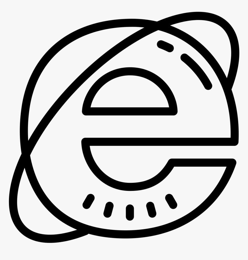 Internet Explorer 10 Icon Png Internet Explorer Icon In Black And White Transparent Png Transparent Png Image Pngitem