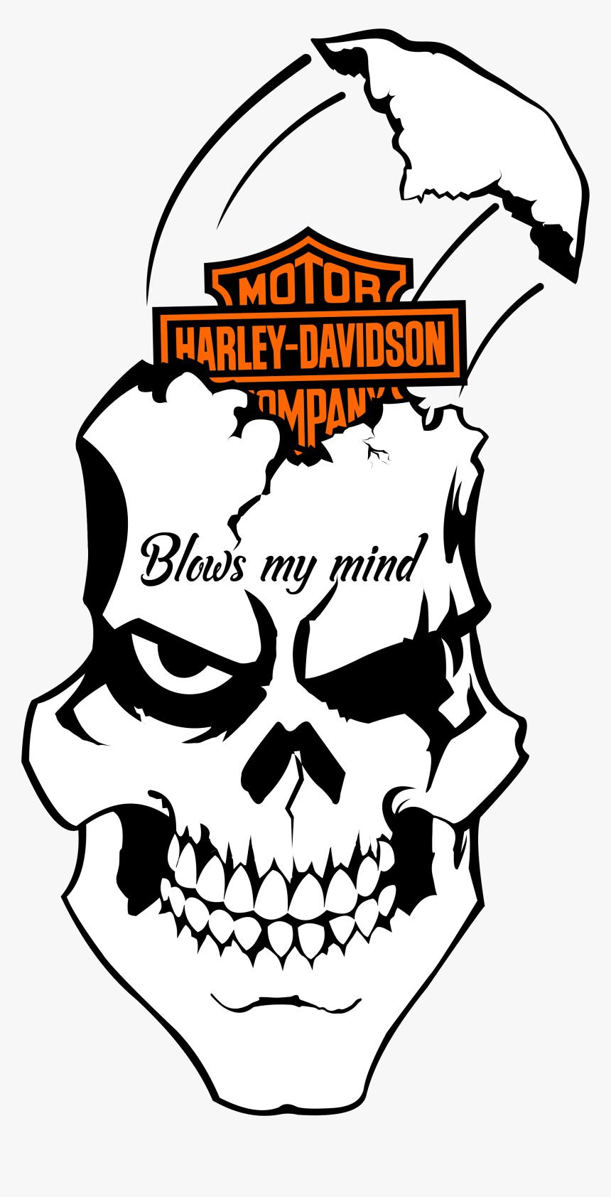 Harley Davidson Flaming Skull 8 Vinyl Decal By Angiesaffordables Harley Davidson Logo Art Hd Png Download Transparent Png Image Pngitem