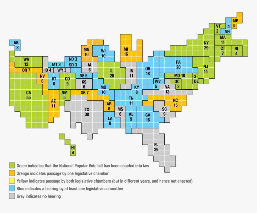 A Map Of The Current States That Have Joined The Interstate ...