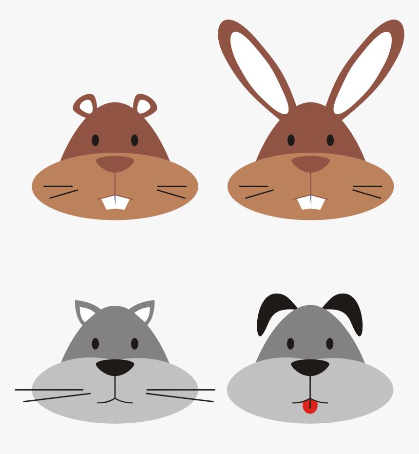 Animal Heads Big Image Gambar Kelinci Dan Kucing Kartun