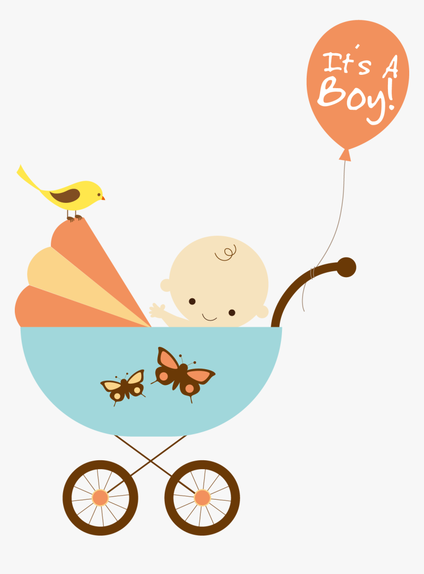 Stroller Vector Material Png Baby Shower Cartoon Transparent Png Transparent Png Image Pngitem