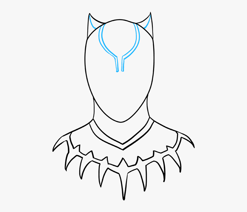 How To Draw Black Panther Simple Drawing Black Panther Hd Png Download Transparent Png Image Pngitem