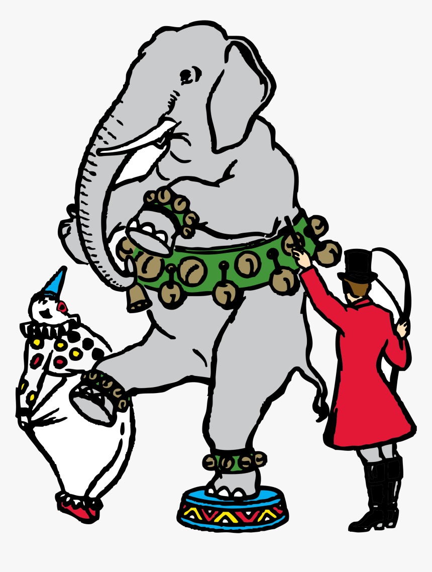 Circus Scene Gajah Kartun Hd Png Download Transparent Png