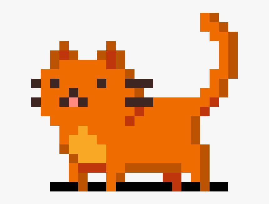 Cat Pixel Art Png Download Simple Cat Pixel Art Transparent Png Transparent Png Image Pngitem