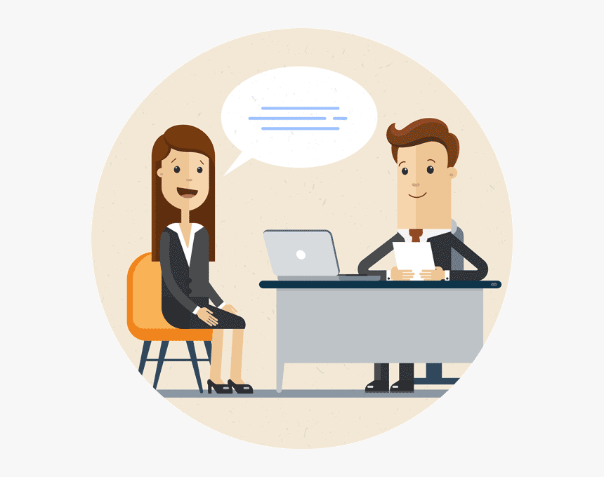 Transparent Clipart Frustrated Office Worker - Job Interview ...