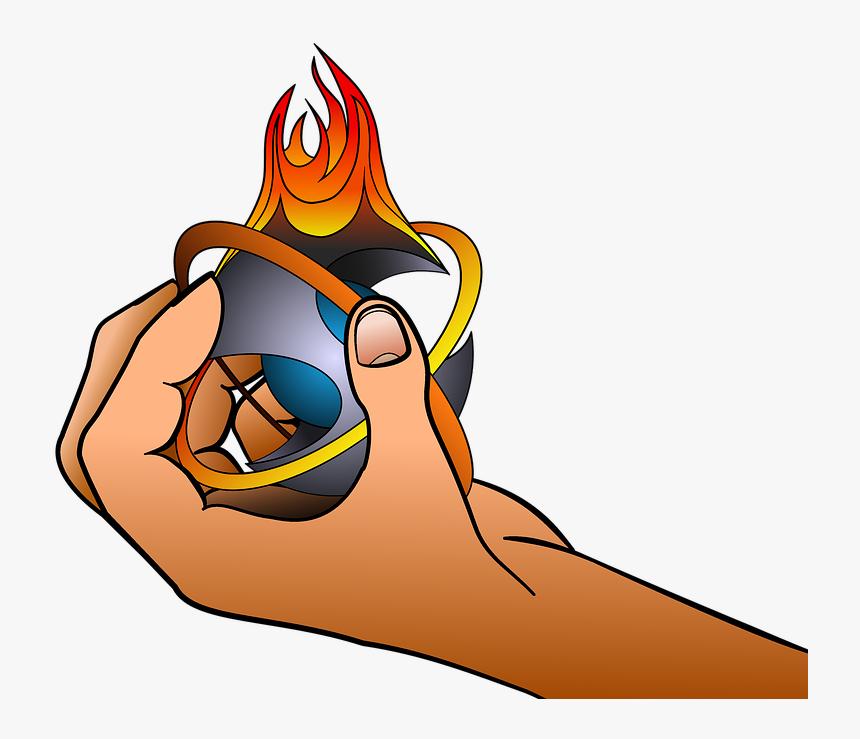 Fire Hand Drawing Logo Force Fantasy Desenho Mão Com