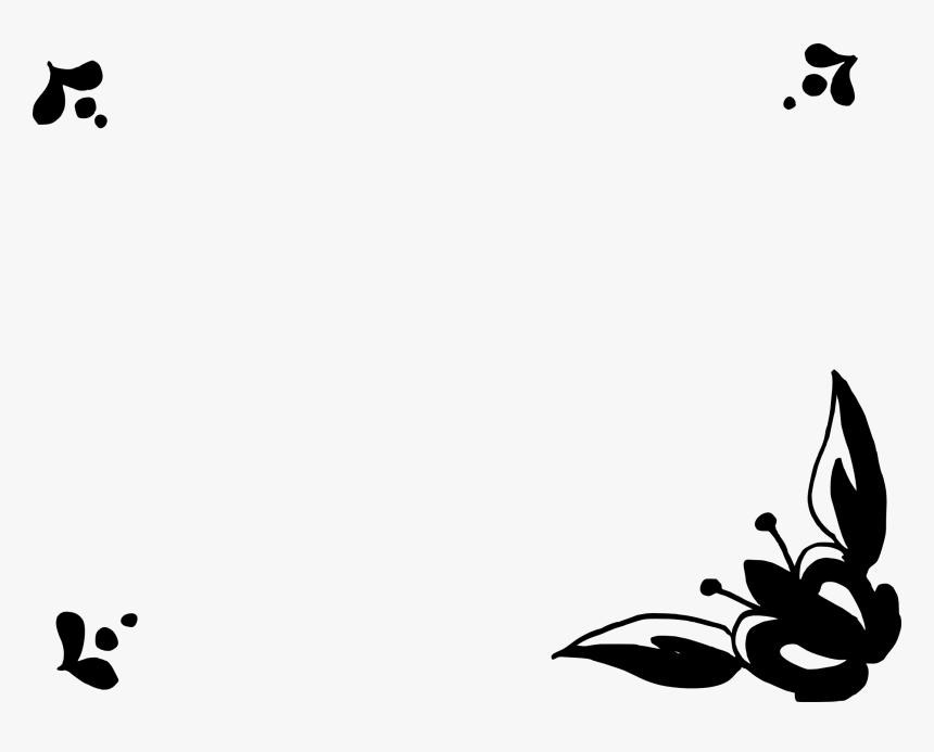 Flowers Frame Hitam Putih Hd Png Download Transparent Png Image