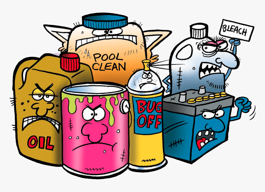 Household Hazardous Chemicals Clipart , Png Download - Household ...