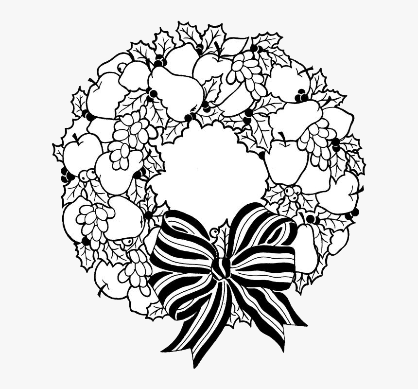 Transparent Holiday Wreath Clipart