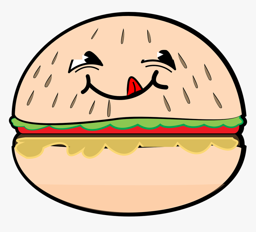 Gambar Burger Kartun Lucu Hd Png Download Transparent Png