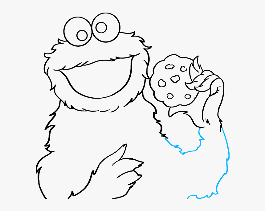How To Draw Cookie Monster From Sesame Street Cookie