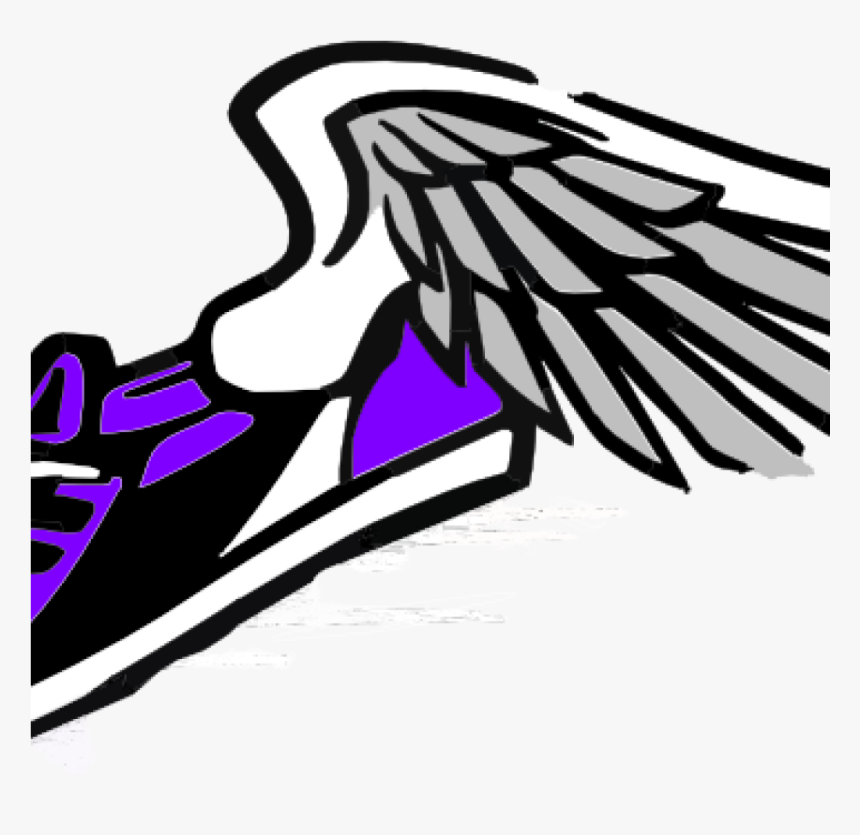 Running Shoes Clipart Running Shoe With Wings Clip , Track