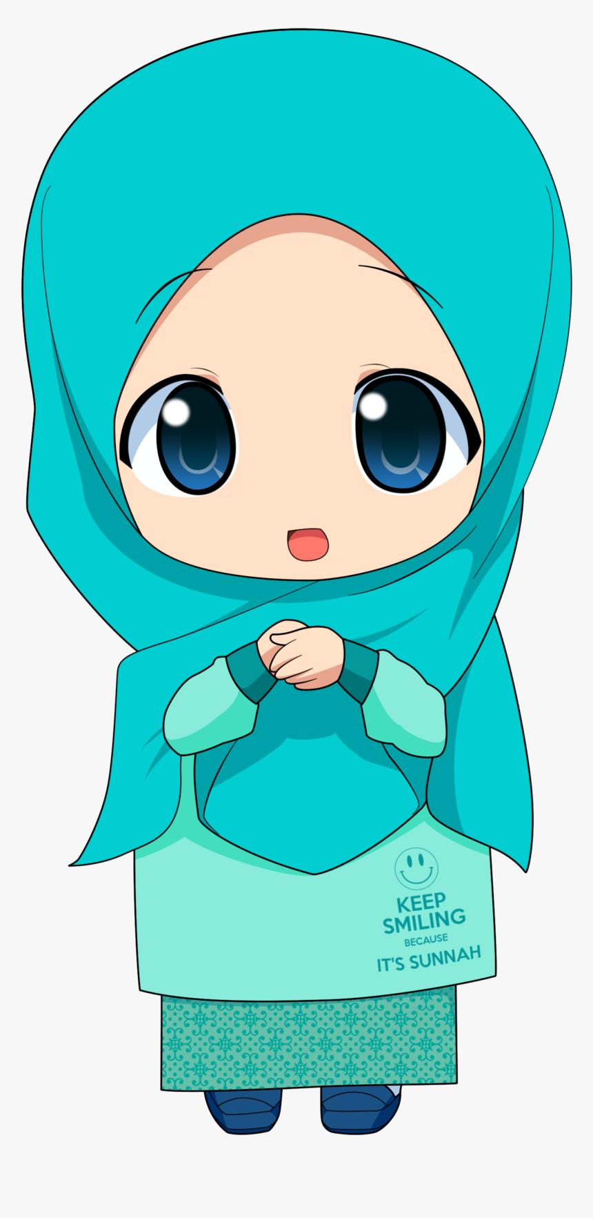 Kartun Hijab Muslim Transparent Transparent