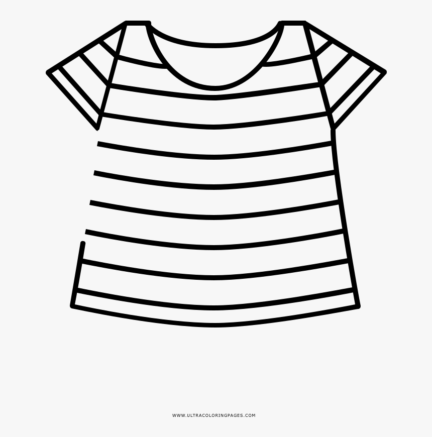 Striped Shirt Coloring Page Pattern Hd Png Download Transparent Png Image Pngitem