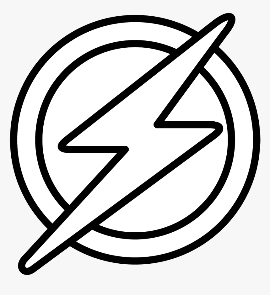 Flash Logo Coloring Pages Hd Png Download Transparent Png Image Pngitem