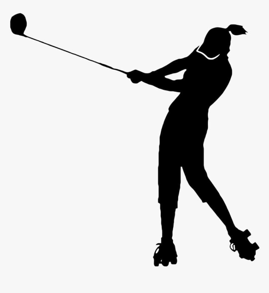 Golf Clip Women S - Ladies Golfer Clipart, HD Png Download , Transparent  Png Image - PNGitem